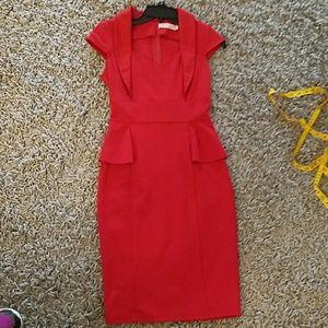 Dresses & Skirts - Sexy Red Bodycon Peplum Sheath Dress